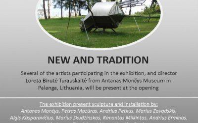 """Danijoje – A. Mončio ir lietuvių skulptūrų paroda """"New and Tradition"""""""