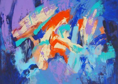 Minčių skaitiniai I, 2017. Drobė, akrilas, 110x150 cm
